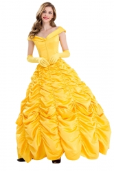 Beauty and The Beast Princess Belle Off Shoulder Costume