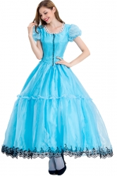 Blue Alice In Wonderland Ball Gown Costume