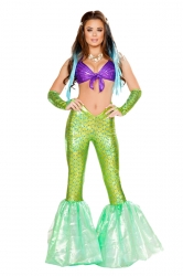 Sexy Poseidon'S Daughter Mermaid Pants Costume