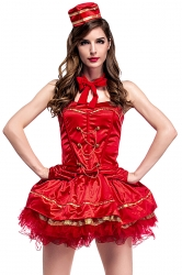 Cigarette Girl Tubes Dress Costume