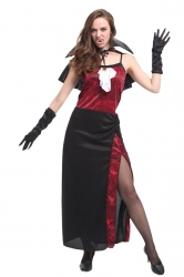 Women Sexy Vampire Halloween Costume Ruby