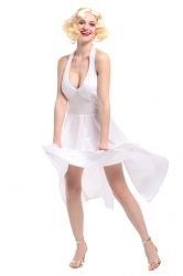Halloween Movie Star Costume Sexy Marilyn Monroe Costume White