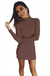 Womens Sexy Long Sleeve Maxi Pullover Sweater Clubwear Dress Purple