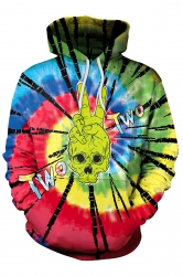 Womens Pocket Alien Skeleton Printed Halloween Hoodie Multicolour