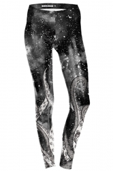 Womens Skinny Ankle Length Sports Octopus Printed Leggings Gray