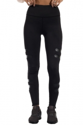 Womens Elasitc High Waist Color Block Skinny Sports Yoga Legging Black