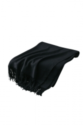 Womens Trendy Warm Shawl Fringe Plain Scarf Black