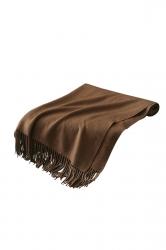 Womens Trendy Warm Shawl Fringe Plain Scarf Camel