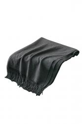 Womens Trendy Warm Shawl Fringe Plain Scarf Dark Gray
