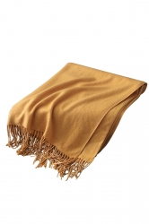 Womens Trendy Warm Shawl Fringe Plain Scarf Ginger