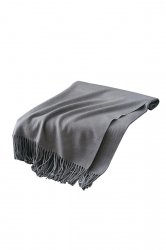 Womens Trendy Warm Shawl Fringe Plain Scarf Gray