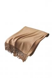 Womens Trendy Warm Shawl Fringe Plain Scarf Khaki
