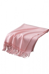Womens Trendy Warm Shawl Fringe Plain Scarf Pink