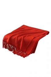 Womens Trendy Warm Shawl Fringe Plain Scarf Red