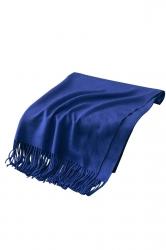 Womens Trendy Warm Shawl Fringe Plain Scarf Sapphire Blue