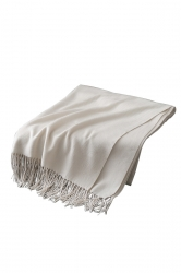 Womens Trendy Warm Shawl Fringe Plain Scarf White