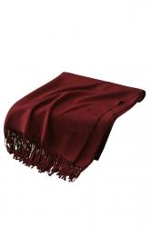 Womens Trendy Warm Shawl Fringe Plain Scarf Ruby