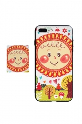 Orange Frosted Sunflower Printed with TPU Bumper Edge Case for iPhone