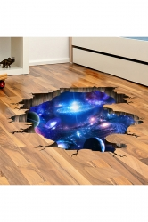 Waterproof Ceiling Living Room Decor Galaxy Printed Wall Decal Blue