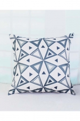 Soft Triangle Printed Throw Pillow Cover Black And White 18x18in