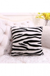 Trendy Leopard Printed Decorative Pillow Cover Black And White 16x16in