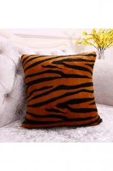 Trendy Leopard Printed Decorative Pillow Cover Brown 16x16in