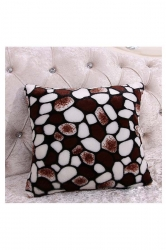 Homey Leopard Printed Decorative Throw Pillow Cover Coffee 16x16in