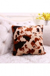 Homey Leopard Printed Decorative Throw Pillow Cover Brown 16x16in