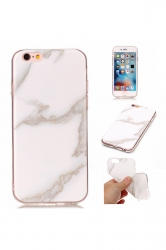 White Ultra-Thin Shock Proof TPU Marble Pattern Soft Case for iPhone