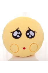 Emoji Whimper Expression Stuffed Plush Throw Pillow 12.6x12.6x5.2in