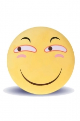 Emoji Smirk Face Warm Hands Soft Office Throw Pillow 12.6x12.6x5.2in