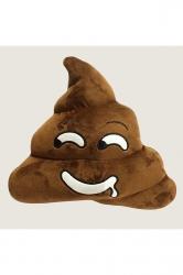 Soft Cushion Stuffed Plush Emoticon Poop Emoji Pillow Brown 14x12x4in