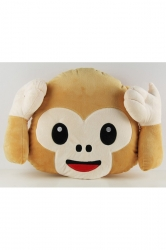 Home Decor Smiley Emoticon Emoji Monkey Decorative Pillow 14x13x4in