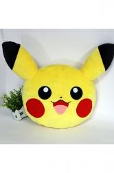 Home Decor Plush Emoji Pokemon Pikachu Decorative Pillow 14x12x3in