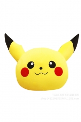 Style Sofa Cushion Emoji Pokemon Pikachu Decorative Pillow 14X12X3In