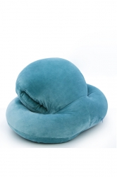 Style Octopus Shape Travel Sleep Nap Head Rest Pillow Blue 16x13x8.5in