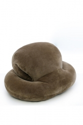 Octopus Shape Travel Sleep Nap Head Rest Pillow Coffee 16X13X8.5In