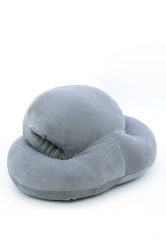 Style Octopus Shape Travel Sleep Nap Head Rest Pillow Gray 16X13X8.5In