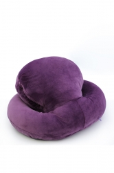 Octopus Shape Travel Sleep Nap Head Rest Pillow Purple 16X13X8.5In