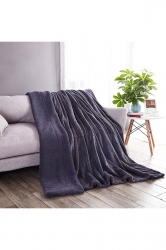 Sofa Nap Blanket Two Sides Different Colors Throw Blanket Gray