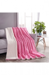 Sofa Nap Blanket Two Sides Different Colors Throw Blanket White
