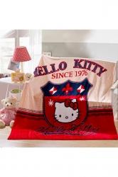 Hello Kitty Sofa Nap Blanket Flannel Throw Blanket Red