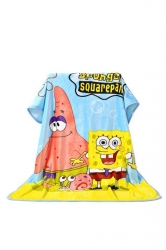 Sponge Bob Printed Throw Blanket Gift For Kids Yellow