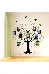 Waterproof Family Tree Wall?Decal?9?Large Photo?Pictures Frames Black