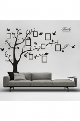 Love Frame Tree Wall Sticker Waterproof Removable Wall Decals Black
