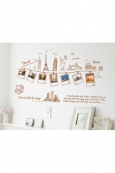 Famous Landmarks Picture Removable Wall Decor Decal Sticker Gold