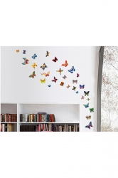 60Pcs Beautiful Butterfly Decal Wall Stickers Multicolor