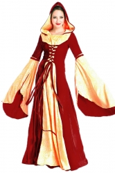 Womens Medieval Gown  Halloween Costume Red