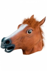 Brown Womens Halloween Horse Realistic Cosplay Mask