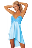 Womens Sexy Spaghetti Straps Lace Splicing Babydoll Turquoise